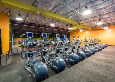 Clean cardio equipment at Blue Moon Fitness Gym in North Omaha