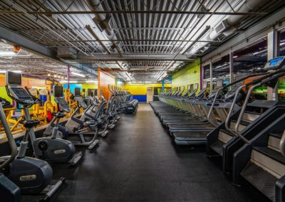 Stationary bikes at Blue Moon Fitness Gym in Lincoln